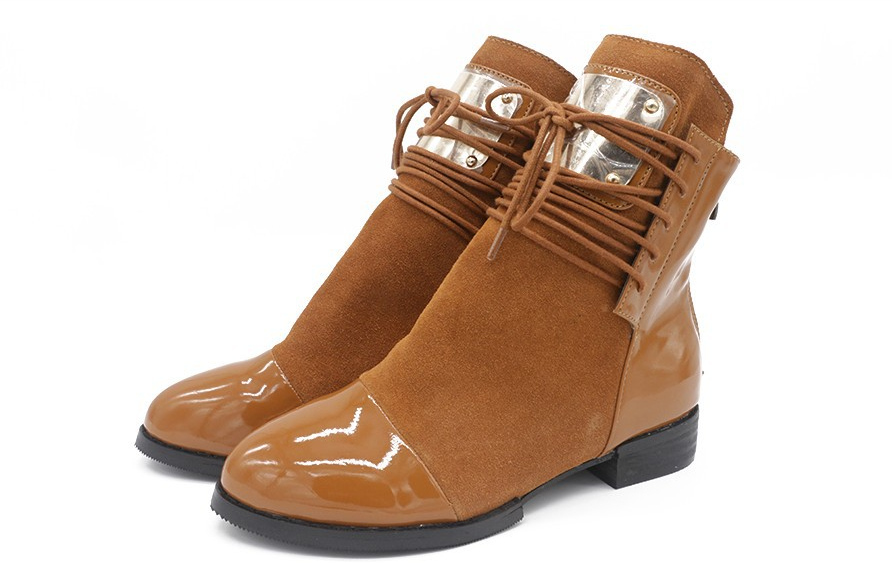 36 43 boots genuine leather flat martin ankle boots