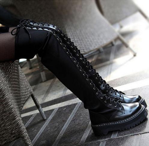 bottes femmes 2015 genuine leather boots women black over. Black Bedroom Furniture Sets. Home Design Ideas